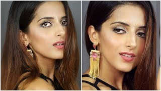 Easy GLOWY Festive Make up Tutorial For Indian Skin Using Affordable Products Ft Maybelline