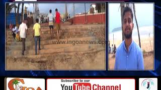 LOCALS OF VASCO HAPPY AS WITHIN 3 DAYS STEPS WERE BUILT AT BAINA BEACH FOR GANESH IDOL IMMERSION