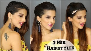 1 Min Everyday Cute & Easy Hairstyles For School, College, Work/ Quick & Easy / Alia Bhatt