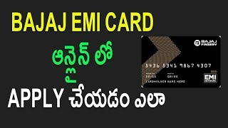 How to Apply Bajaj EMI Card | Credit Card Online Telugu Tech Tuts