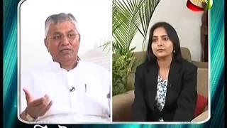 Sh. PP Chaudhary addressing on mahua TV