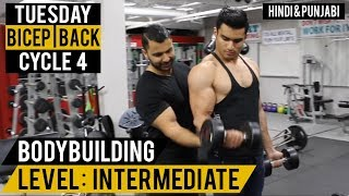 Killer Bicep & Back Split Workout For MASS! Cycle 4 (Hindi / Punjabi)