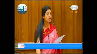 AAP MLA Alka Lamba, addressed Delhi Assembly on LG's Letter to Speaker on Assembly Committees