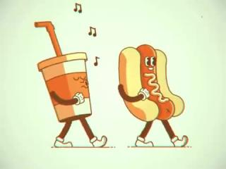 #Hotdog and a #Drink makes the best buddy