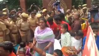 மாட்டிறைச்சி விவகாரம்... சென்னை ஐஐடி முன்பு ஆர்ப்பாட்டம்