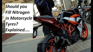 Should you Fill Nitrogen in Motorcycle Tyres? Explained.