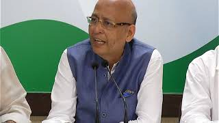 AICC Press Briefing By Abhishek Singhvi at Congress HQ, October 13, 2017