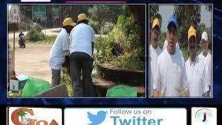 Minister Govind Gaude Cleans Mangueshi Temple Surroundings