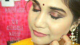 New Affordable Makeup Try on + Diwali Makeup Tutorial | Nidhi Katiyar