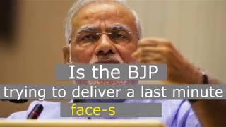 Is Mr Modi feeling the heat in Gujarat ?