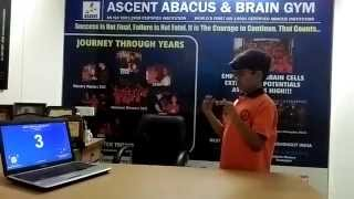 Ascent Abacus Student Pratik Dash setting new records in Concentration single digit  300 length