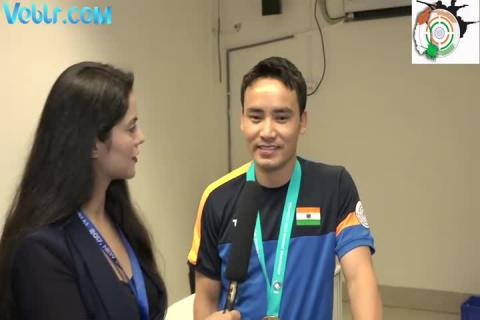Jitu Rai after winning World Cup - ISSF WCF