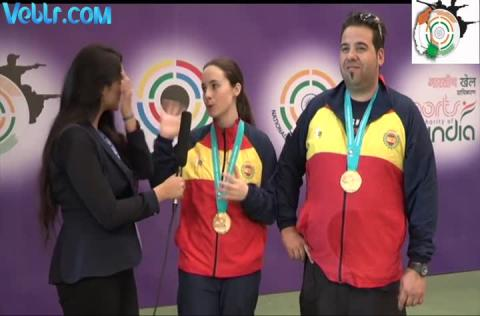 Gold Medalist Team of Spain - Antonio BAILON, Beatriz MARTINEZ - Exclusive Inteview - #ISSF #WCF