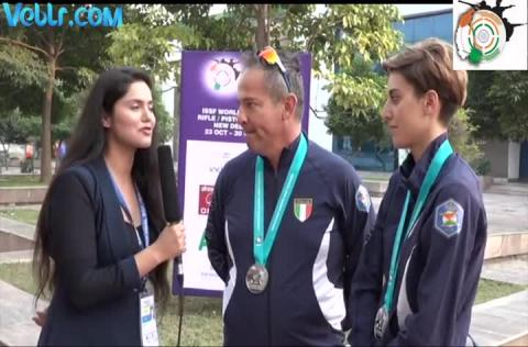 Silver Medalist Team of Italy - Giovanni PELLIELO, Jessica ROSSI - Exclusive Inteview - #ISSF #WCF
