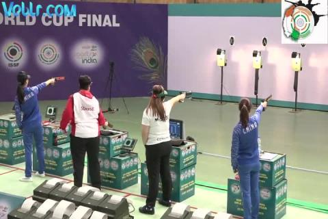 10m Air Pistol Women - Final Match - Part 1 #ISSFWCF