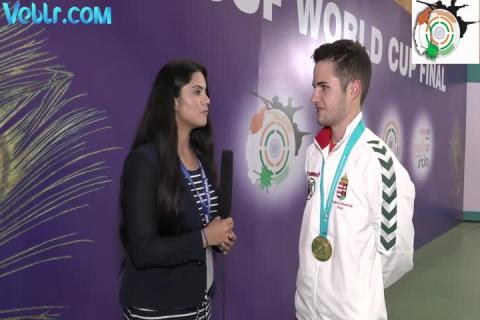 Interview with Istvan Peni (Hungarian) - Gold medalist in 10m Air Rifle Men final #ISSFWCF