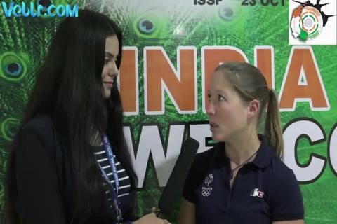 Interview with Goberville Celine (France) - Gold Medallist in 10m Air Pistol Women #ISSFWCF