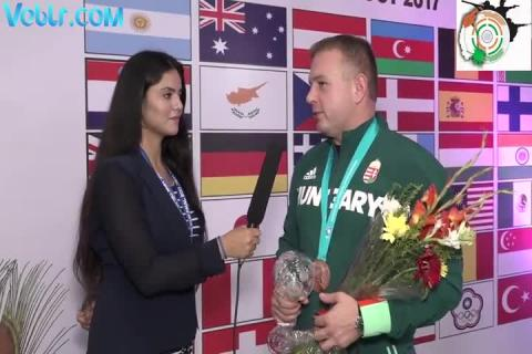 Interview with Sidi Peter (Hungary) - Bronze Medalist in 10m Air Rifle Man #ISSFWCF