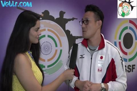 Interview with Matsuda (Japan) - Gold Medalist in 10m Air Pistol (Men) #ISSFWCF