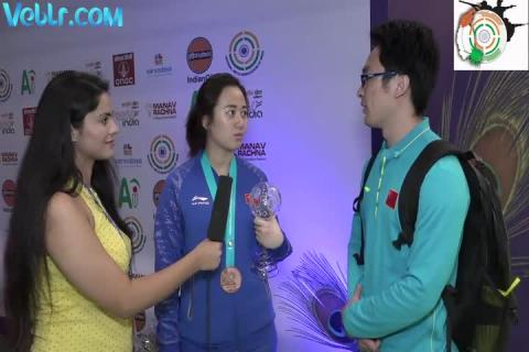 Exclusive Interview with PENG Xinyi - Bronze Medal Winner in 10m Air Rifle Women #ISSFWCF