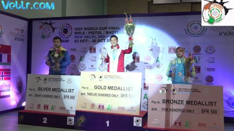 Victory Ceremony of 10m Air Pistol Men - ISSF WCF 2017