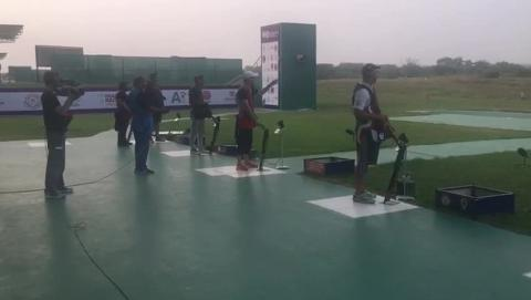 Look Out for Sangram and ANKUR - Double Trap Final - ISSF WCF 2017