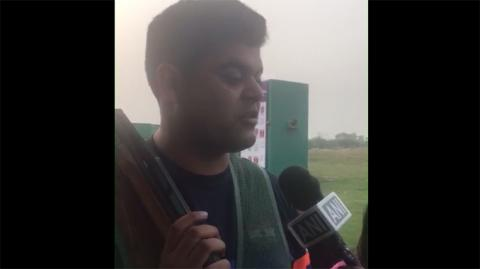 Sangram Dahiya (INDIA) - First Interview After Winning Silver Medal in Double Trap Men Final #ISSFWCF 2017