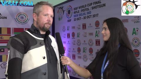 Exclusive Interview with Torben Grimmel (Denmark)- Gold Medal Winner in 50m Rifle Prone Men Final #ISSFWCF 2017