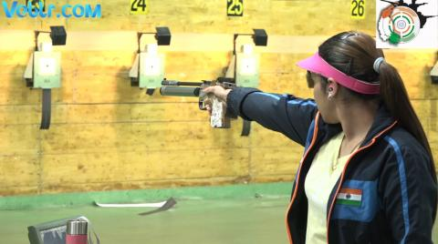 4th Day Practice Session Indian Team - ISSF WCF 2017