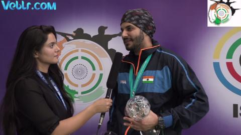 Interview with Amanpreet Singh (INDIA) - Bronze Medal Winner in 50m Pistol Men Final #ISSFWCF 2017