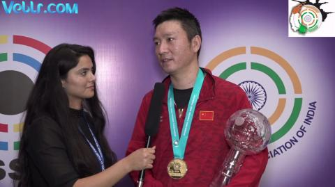Interview with Binyuan Hu (CHINA) - Gold Medal Winner in Double Trap Men Final #ISSFWCF 2017
