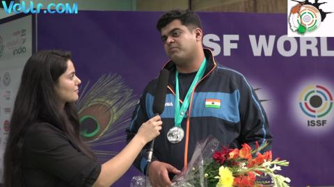 Interview with Sangram Dahiya (INDIA) - Silver Medal Winner in Double Trap Men Final #ISSFWCF 2017