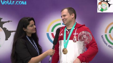 Exclusive Interview with Damir Mikec (Serbia) - Gold Medal Winner in 50m Pistol Men Final #ISSFWCF 2017