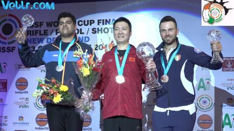 Victory Ceremony of Double Trap Men - ISSF WCF 2017