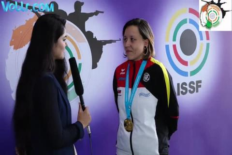 Interview with Jolyn Beer - Gold Medal Winner in 50m Rifle 3 Positions Women Final #ISSFWCF 2017