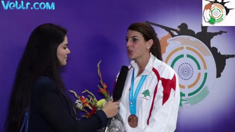 Exclusive Interview with Bassil Ray - Bronze Medal Winner in Trap Women Final #ISSFWCF 2017