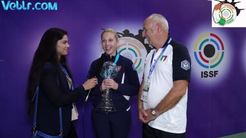 Exclusive Interview with Iezzi Alessia - Gold Medal Winner in Trap Women Final #ISSFWCF 2017