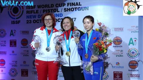 Victory Ceremony of 50m Rifle 3 Positions Women #ISSFWCF 2017