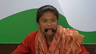 AICC Press Briefing By Sushmita Dev at Congress HQ, October 24, 2017
