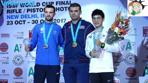 Victory Ceremony - 25m Rapid Fire Pistol Men #ISSFWCF 2017
