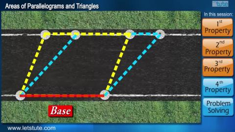 Area of Parallelogram and Triangles | Letstute