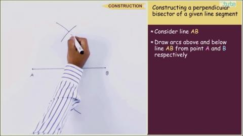 Constructing Perpendicular bisector of a line segment | Letstute