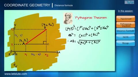 Distance Formula | Coordinate Geometry | Letstute