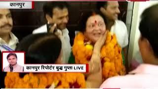 कानपुर में BJP प्रत्याशी के नामांकन के दौरान आचार संहिता की उड़ी धज्जियां