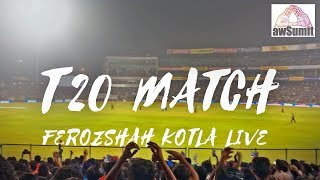 First Live Cricket match experience at FerozShah Kotla Vlog @awSumit