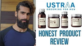 USTRAA Beard Grooming Products Review - BEARD WASH, BEARD OIL, MOOCH WAX and BEARD SOFTENER