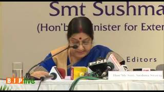 EAM Smt Sushma Swaraj at book launch of 'The Modi Doctrine New Paradigm in India's Foreign Policy'