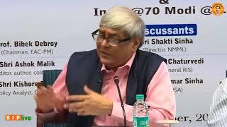 "Prof. Bibek Debroy's speech on Book ""India @70 Modi@3.5"""