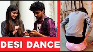 Girl Bursting Ballon & Dancing On HARYANVI Song - Crazy Dares (Pranks in India)