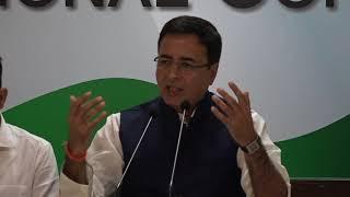AICC Press Briefing By Randeep Surjewala at Congress HQ, November 14, 2017